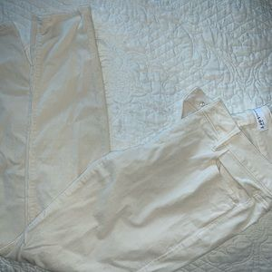 The LOFT cream/off white skinny corduroy pants